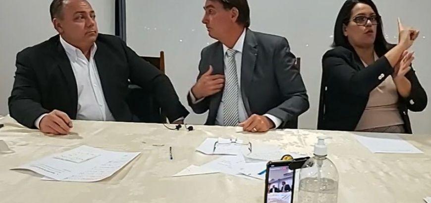 Bolsonaro diz que se Anvisa rejeitar as vacinas em análise, não comprará nenhuma outra (Crédito: Print de tela)
