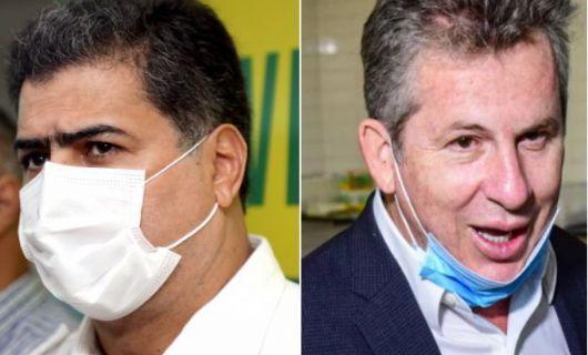 PT aponta má gestão da pandemia por parte Mauro Mendes e Emanuel Pinheiro (Crédito: Reprodução)