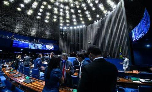 Senado aprova texto-base da PEC Emergencial com auxílio limitado a R$ 44 bi (Crédito: Marcos Oliveira / Agência Senado)
