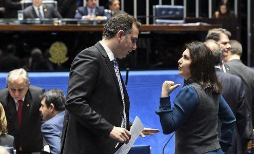 Pacheco apoiado por Bolsonaro, negocia as comissões CDH e CMA para o PT (Crédito: Agência Senado)