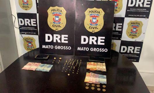 Traficantes presos utilizavam venda de bebidas como fachada para venda de drogas no bairro Pedregal (Crédito: Polícia Civil-MT)