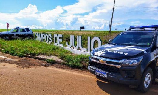 Policiais civis prendem foragido da Comarca de Sapezal pelo crime de homicídio (Crédito: Polícia Civil-MT)