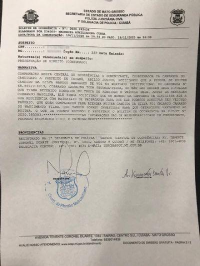 Comitê de Abílio denuncia tentativa de extorsão e comunica a Polícia Federal
