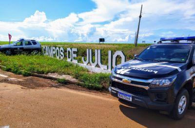 Policiais civis prendem foragido da Comarca de Sapezal pelo crime de homicídio