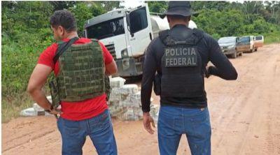 PF flagra 250 Kg de cocaína em  caminhão-tanque; motorista foi preso em flagrante
