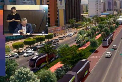 Mauro Mendes desiste do VLT e troca modal por BRT elétrico