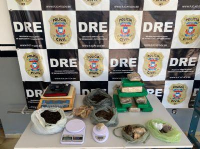 Polícia Civil prende no bairro Cidade Verde traficantes com grande quantidade de maconha e cocaína
