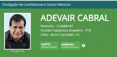 Justiça Eleitoral indefere candidatura de vereador cuiabano