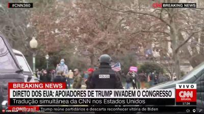 Instigados por Donald Trump, manifestantes invadem o Capitólio
