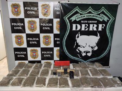 Polícia Civil prende traficante com 31 pacotes de maconha conhecida como Skank