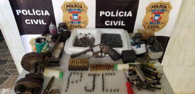 Polícia Civil prende homem com arma de fogo, munições e apetrechos de recarga em Nova Xavantina