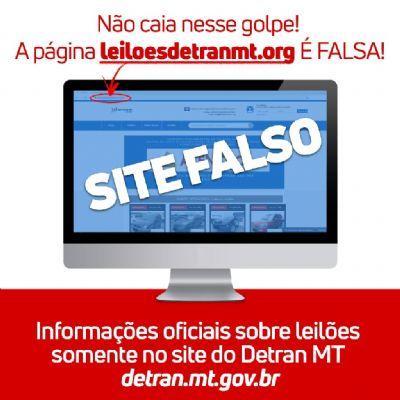 Detran-MT alerta usuários sobre site falso de leilões de veículos