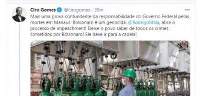 Vem crescendo pressão por impeachment de Bolsonaro, acusado de genocídio