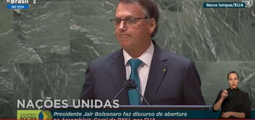 Bolsonaro defende na ONU o ''tratamento precoce'' sem eficácia para Covid-19 (Crédito: Reprodução)