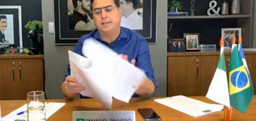 MPE ingressa com segundo pedido de afastamento de Emanuel Pinheiro (Crédito: Reprodução)