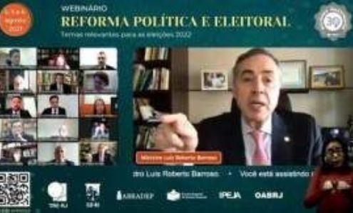 Presidente do TSE fala sobre desafios da democracia na atualidade (Crédito: Reprodução)