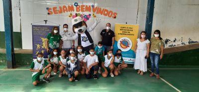 Polícia Comunitária realiza Dia das Crianças para 80 alunos de escola municipal de Cuiabá