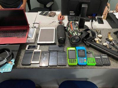 Casal é preso por receptação, com produtos furtados de veículos em Campo Verde