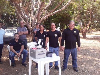 Policiais civis participam de curso para operação de drone ministrado pelo Sindicato Rural de Canarana