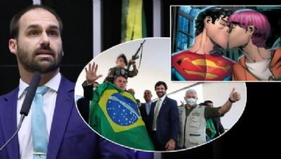 Eduardo Bolsonaro protesta contra Superman bissexual