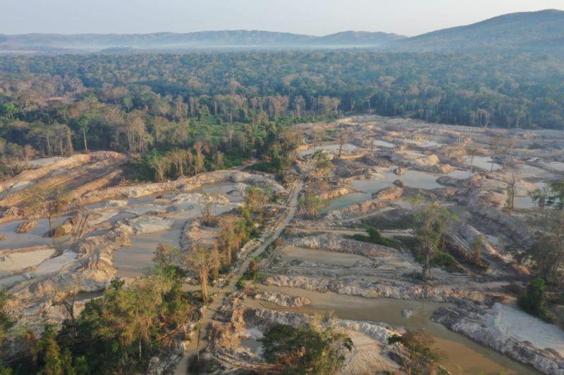 PF deflagra operação na TI Sararé e destrói equipamentos de mineração ilegal