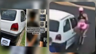 Homem que assediou ciclista em Palmas/PR é preso