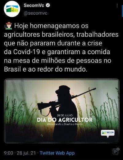 No Dia do Agricultor, governo Jair Bolsonaro troca enxada por espingarda