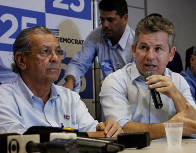 Mauro Mendes e Jayme Campos fazem parte da executiva nacional do União Brasil