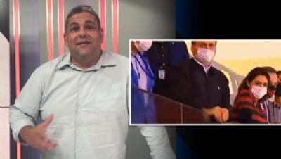 NARRADOR ESPORTIVO DA FOX IGNORA PRESENÇA DE BOLSONARO NO JOGO DO FLAMENGO NA LIBERTADORES DA AMÉRICA