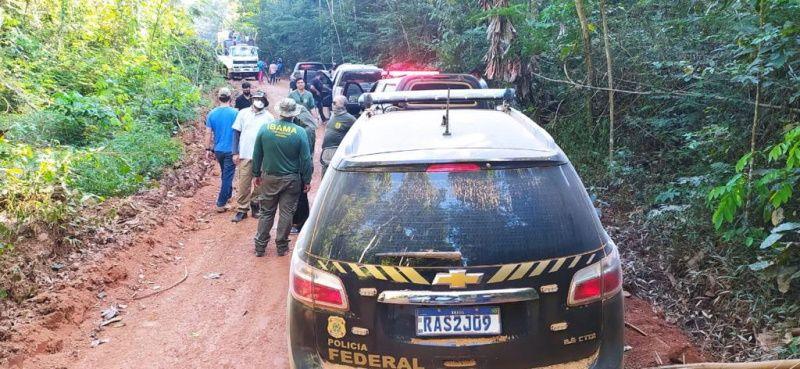 Operação do Ibama/PF flagra descarga de rejeitos de mineração em rios e desmatamento em garimpos
