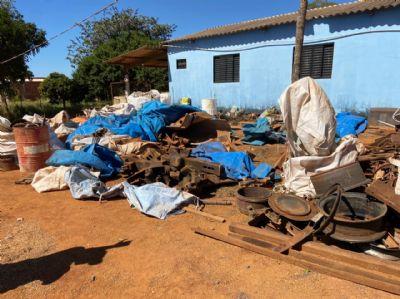 Polícia Civil recupera peças furtadas de empresa de ferrovia e prende receptador em Alto Taquari