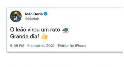 JOÃO DORIA IRONIZA RECUO DE BOLSONARO:
